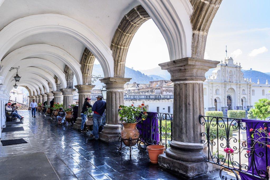Arches on City Hall Terrace, Antigua