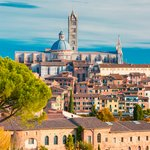 Siena Duomo and old town skyline