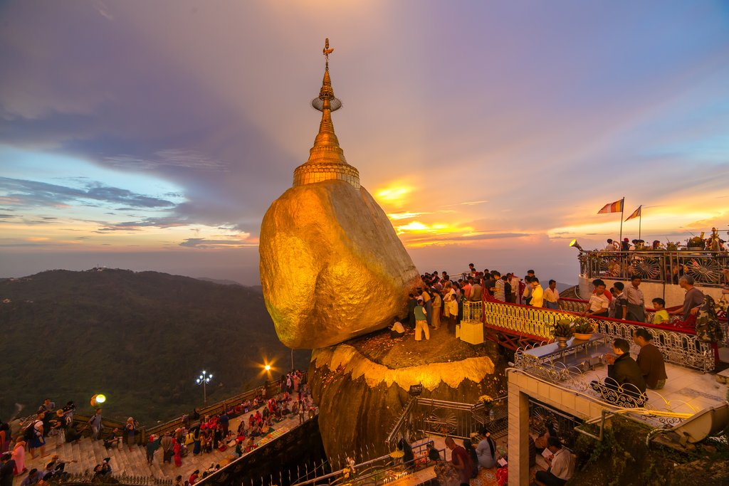 Kyaiktiyo pagoda (golden rock) in Myanmar