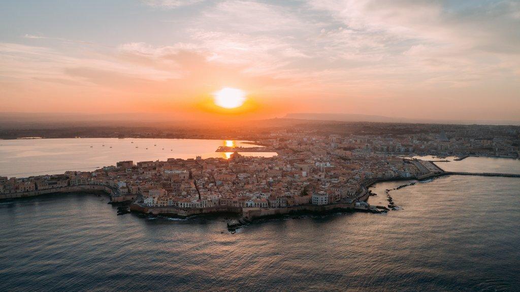 Sunset over Ortygia