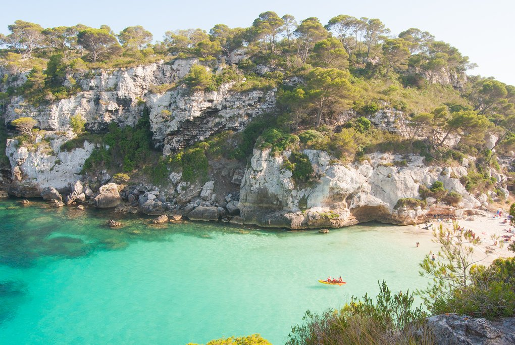Take a kayak tour around Menorca