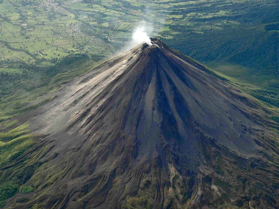 Arenal Volcano from the sky