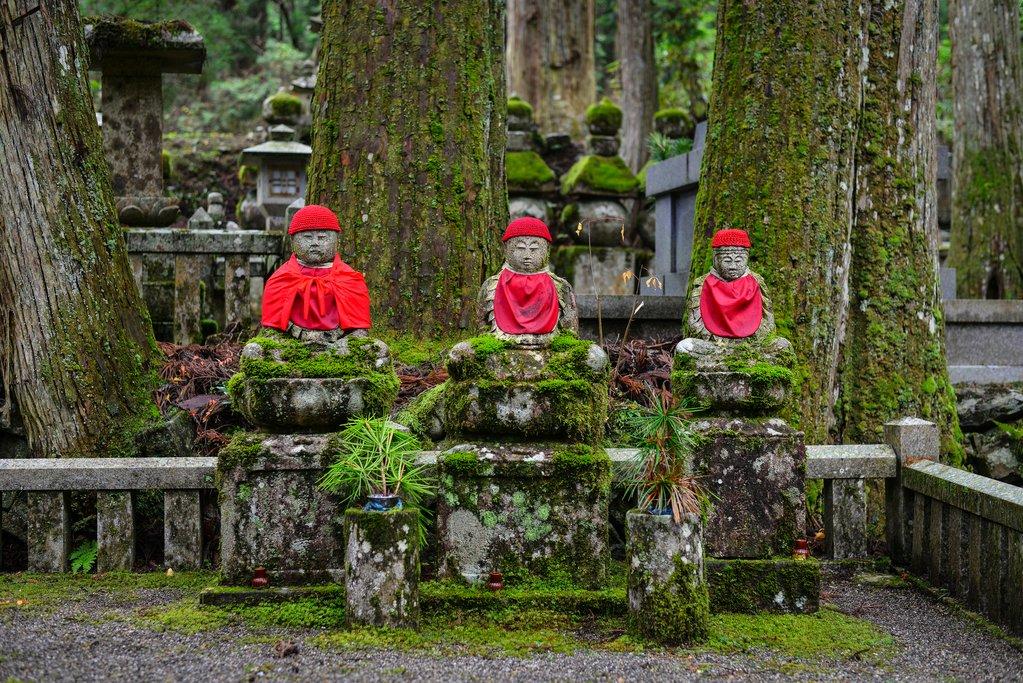 Okunoin Cemetery on Mount Koya, Japan