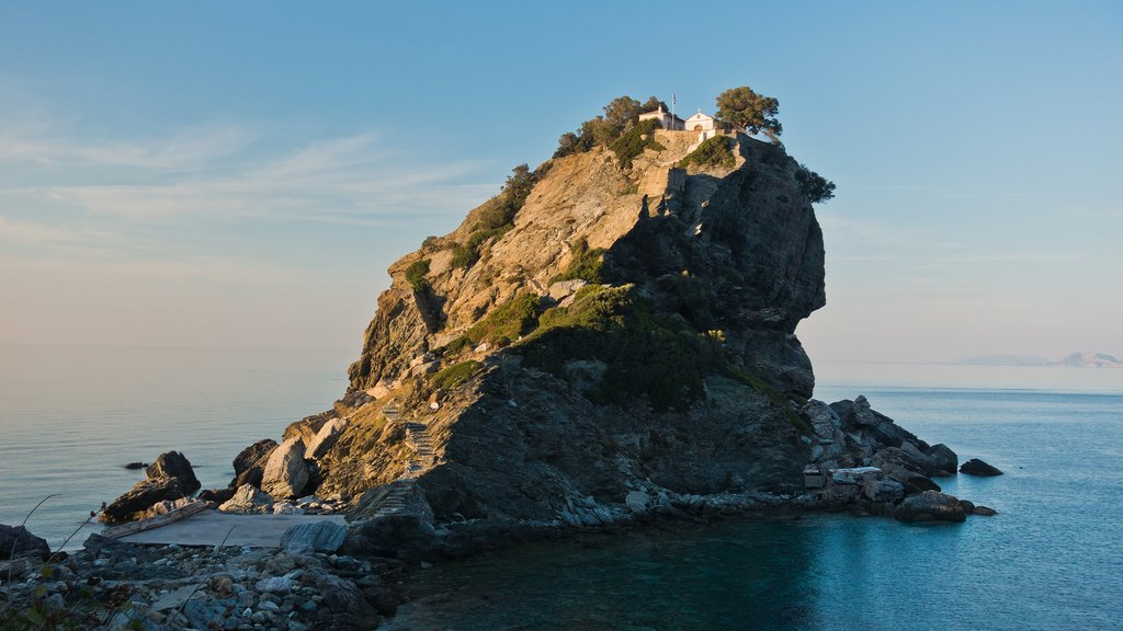 Agios Ioannis church atop its cliff