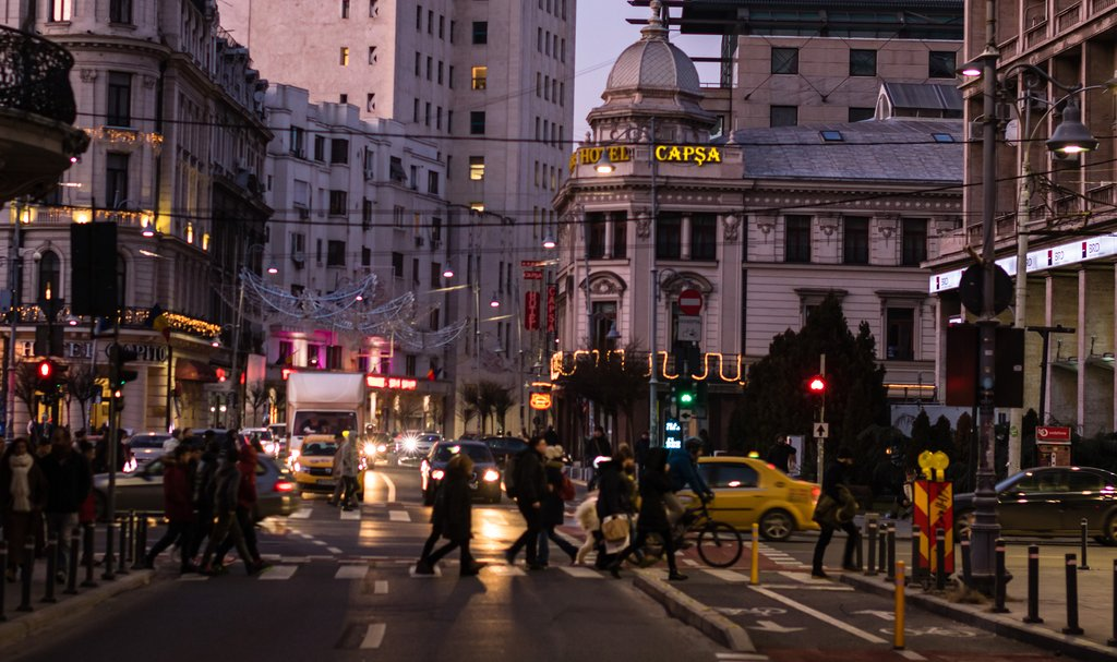 Streets of Bucharest at Night