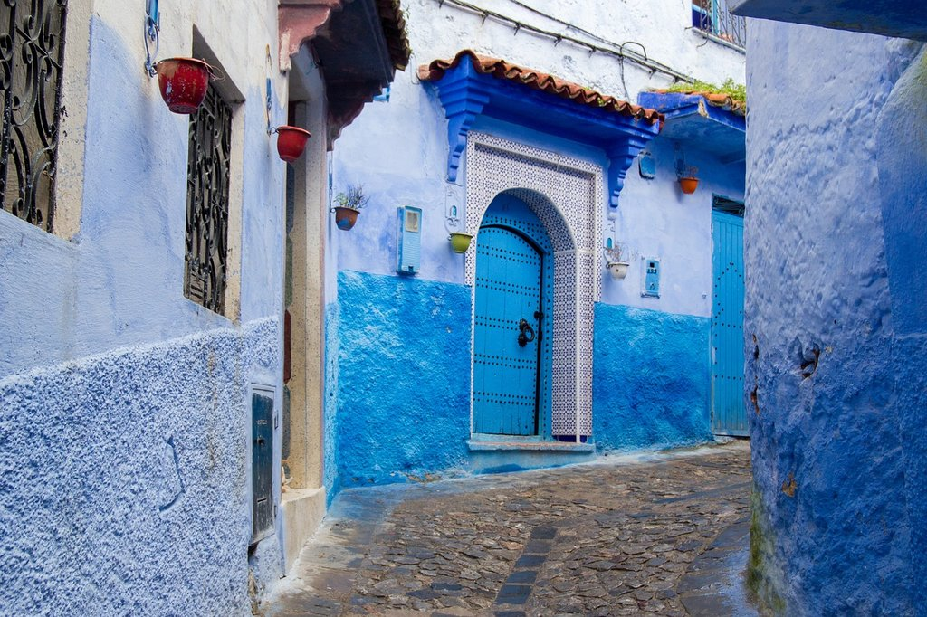 Blue houses in Chefchaouen (Photo courtesy of Pixabay)
