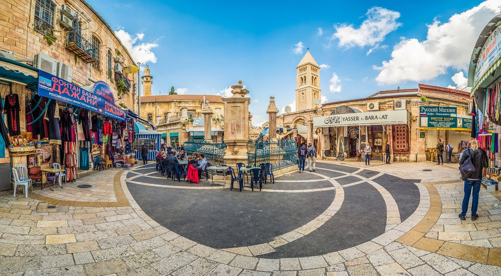 A square in the Christian Quarter of Jerusalem