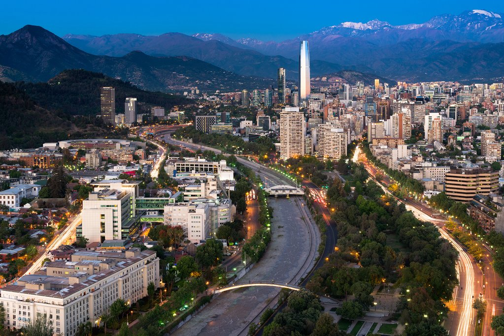 One more glimpse of Santiago from the air