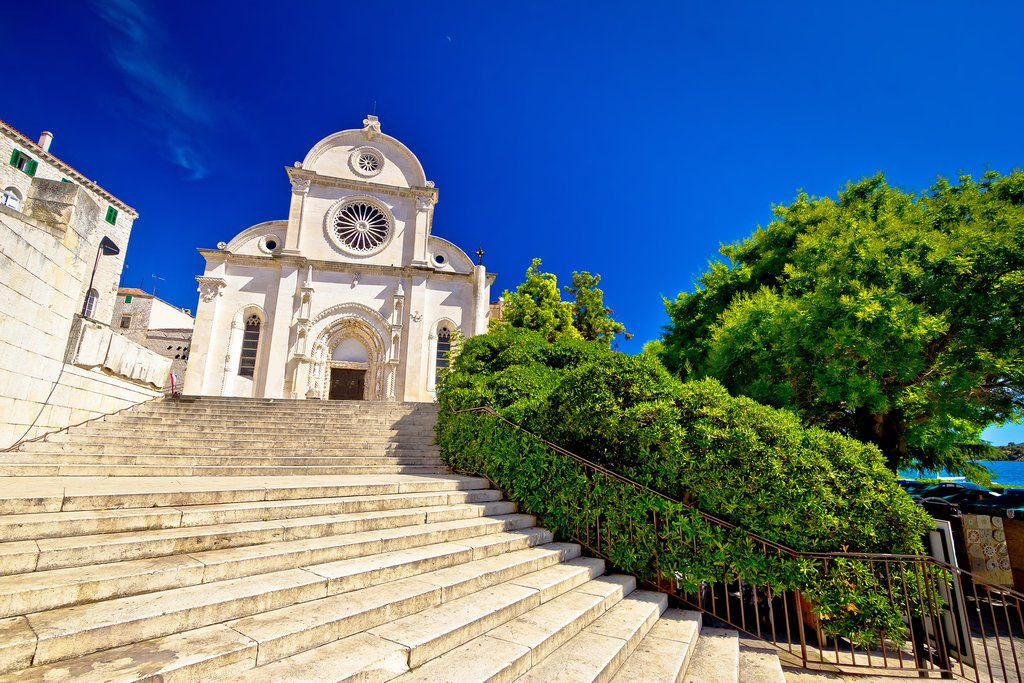 Steps leading to Cathedral of St. James
