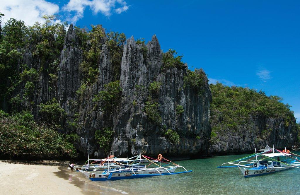 fishing boats, Puerto Princesa, the Philippines
