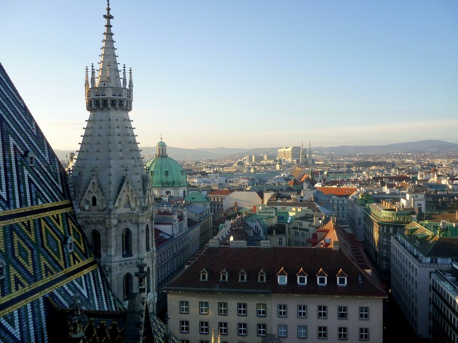 View over Vienna from St. Stephen's Cathedral