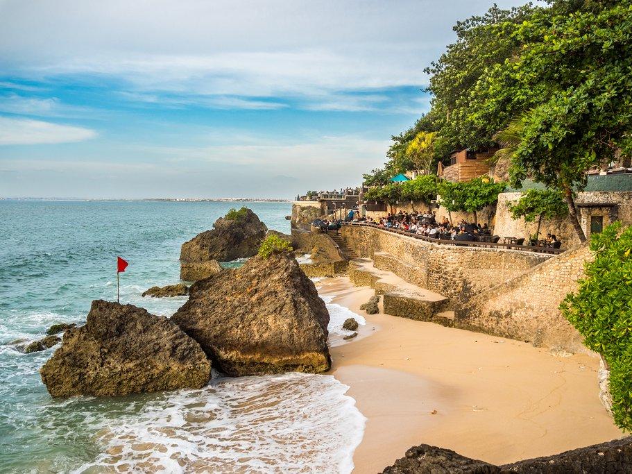 Restaurants on the shore in Jimbaran