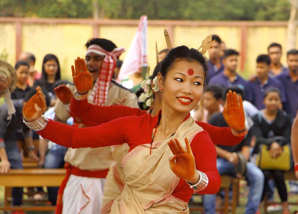 A dancer performs in Jorhat