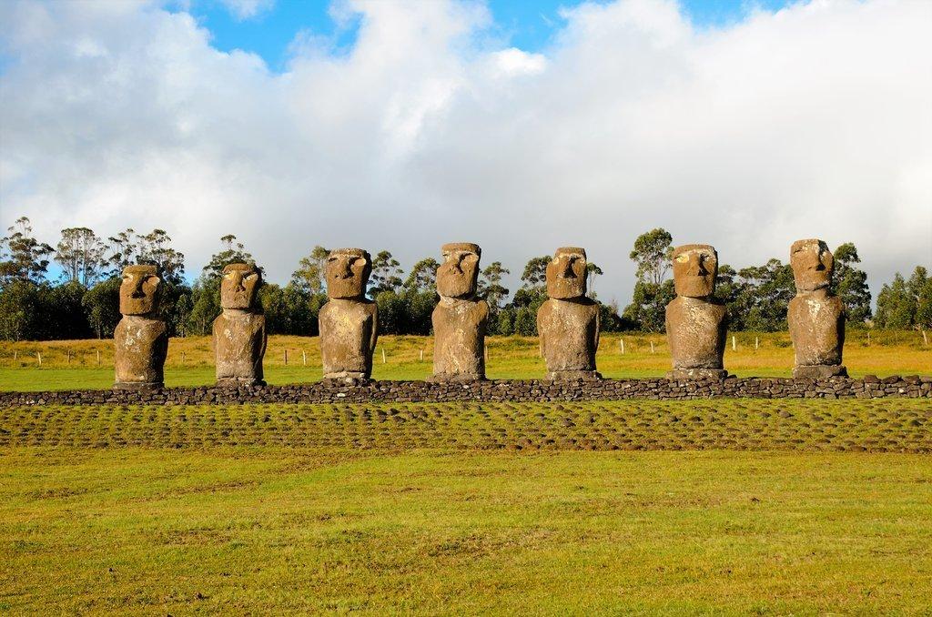 The seven moai of Ahu Akivi
