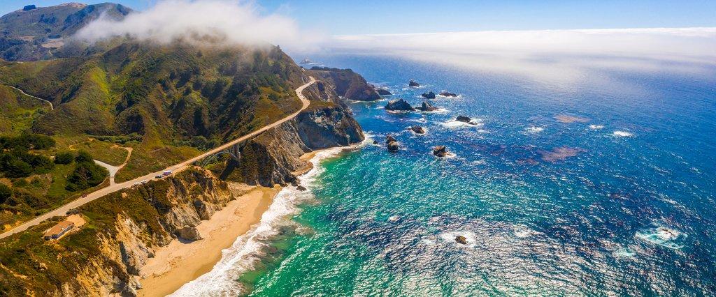 Highway 1 along the Big Sur coast