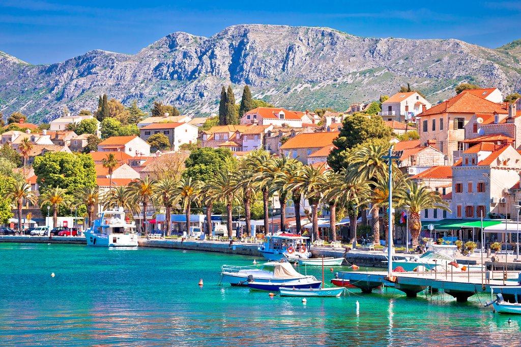 The Harbor of Cavtat, Croatia