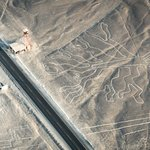 Nazca Lines at the side of the road