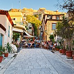Dine under the shadow of the Acropolis