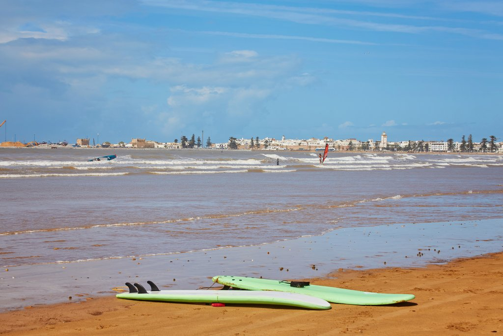 windsurfing and kite boarding in Essaouira, Morocco