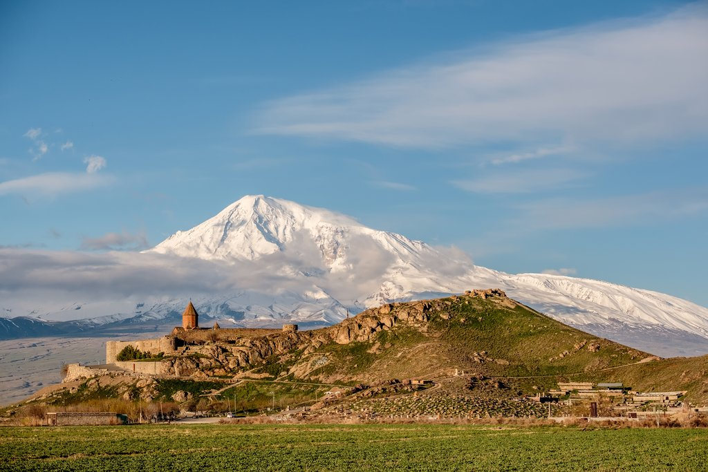 Khor Virap Monastery with Mount Ararat in the background