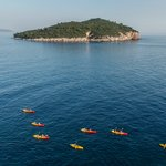 Heading out toward Lokrum Island, close to Dubrovnik
