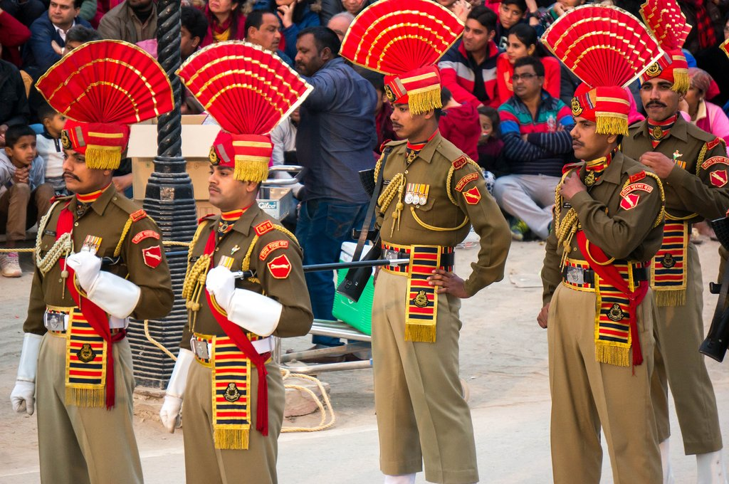 Catch a ceremony in Wagah