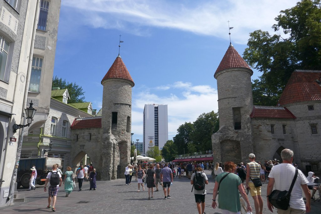 View of the Viru Gate in Tallinn