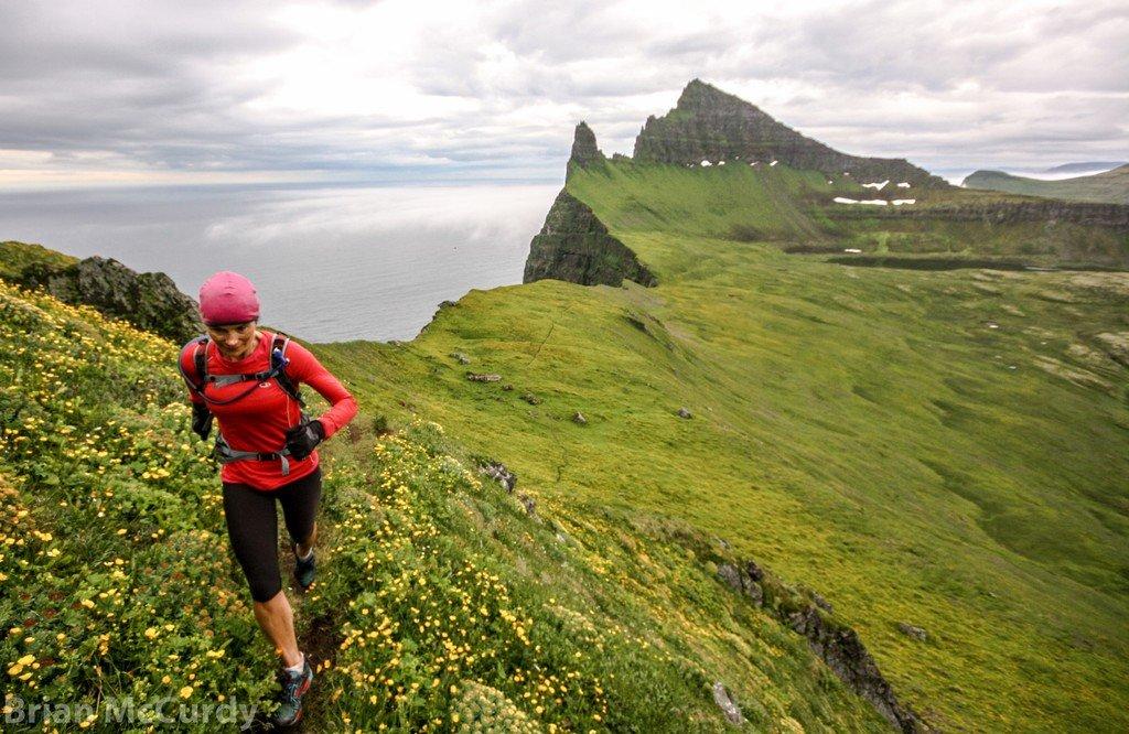 Hike along the cliffs at Hornstrandir