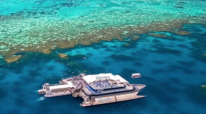 Take a boat trip out to the Great Barrier Reef