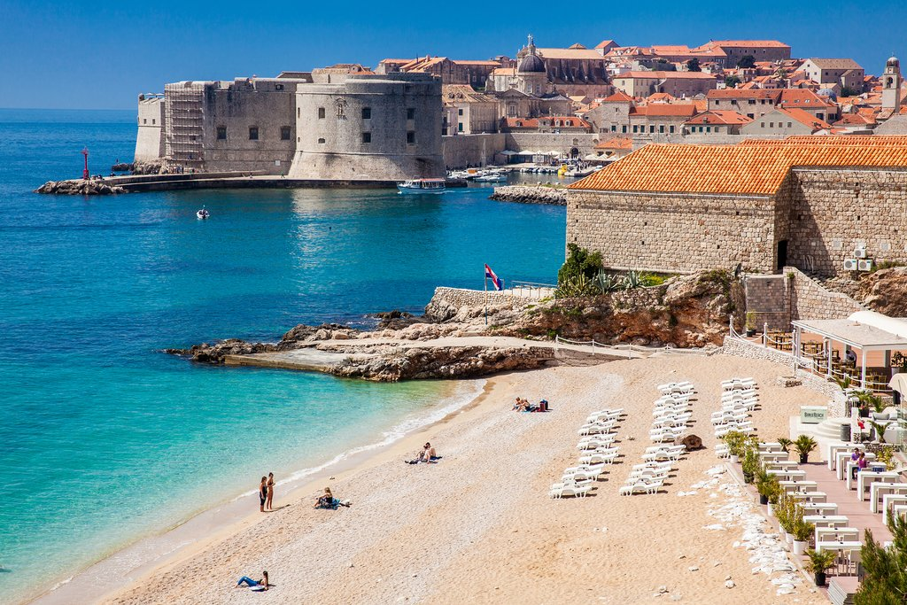 Harbor and Beach of Dubrovnik
