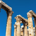 the famous columns of the Temple of Olympian Zeus