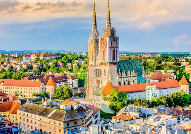 Looking to Zagreb's Hilly Old Town