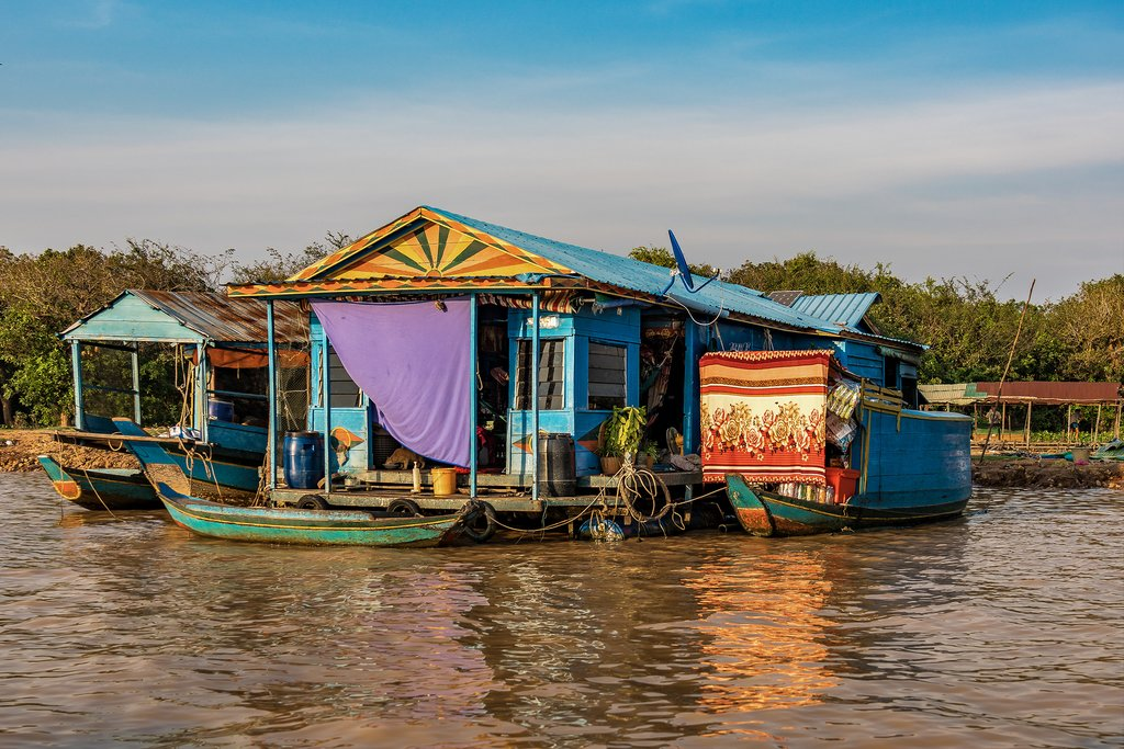 Floating houses on the Tonle Sap Lake, Siem Riep
