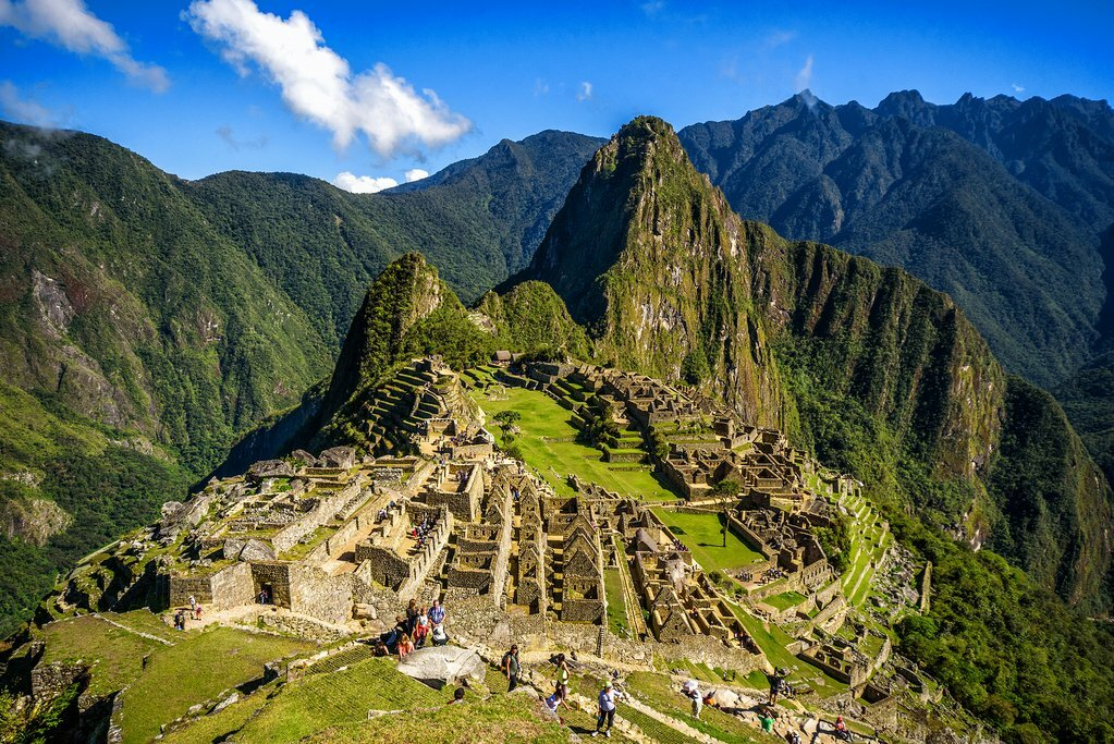 Machu Picchu has a stunning mountain setting