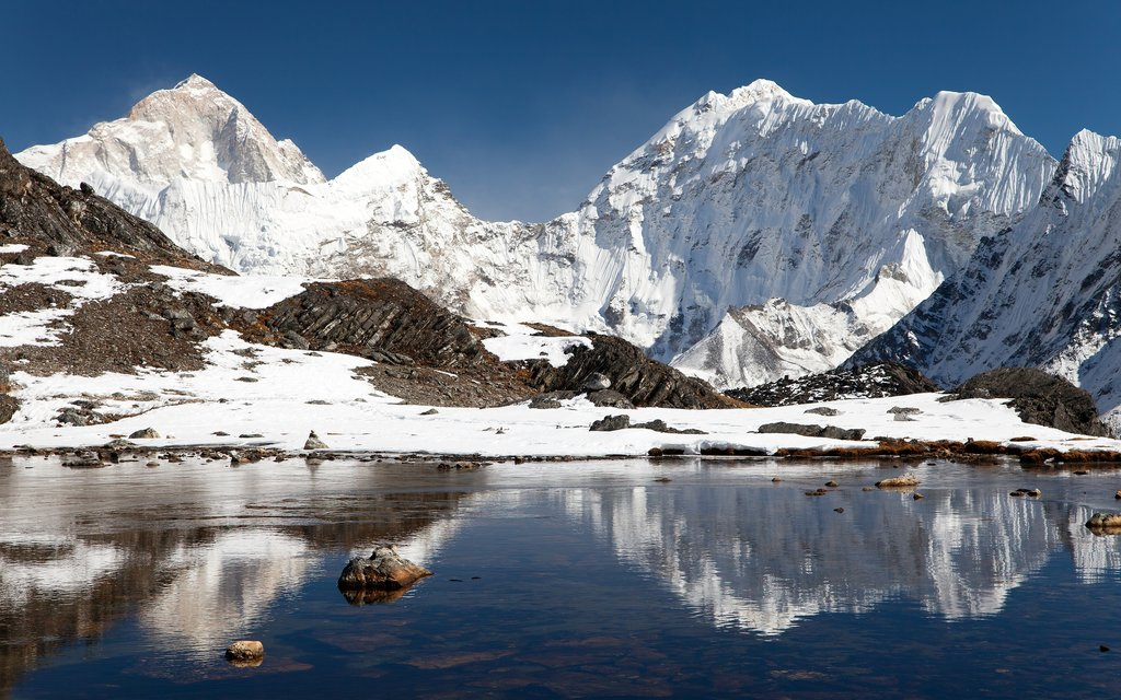 At Pokalde Base Camp, you'll come face to face with Mt. Makalu near the Kongma La Pass
