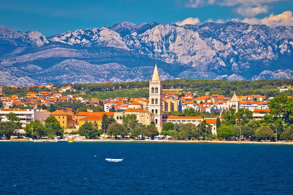 Zadar's waterfront view