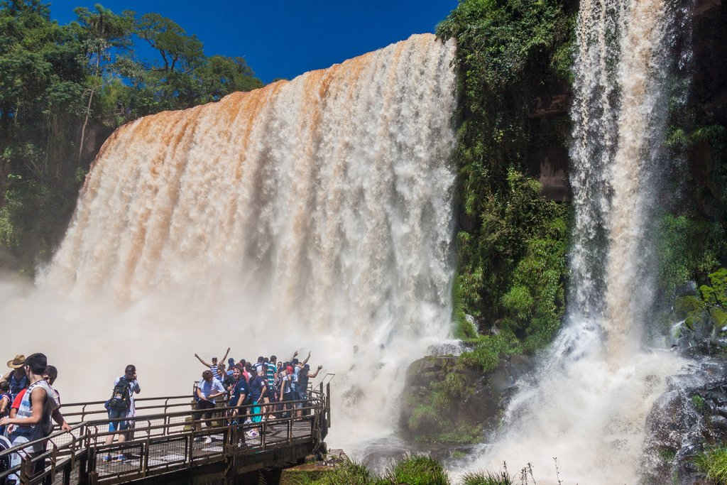 A popular photo op at Iguazú Falls
