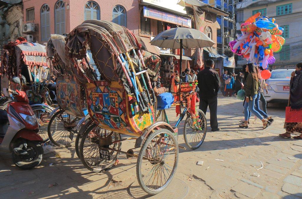 A rickshaw in Kathmandu