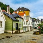 A historic street in Bergen's Old Town