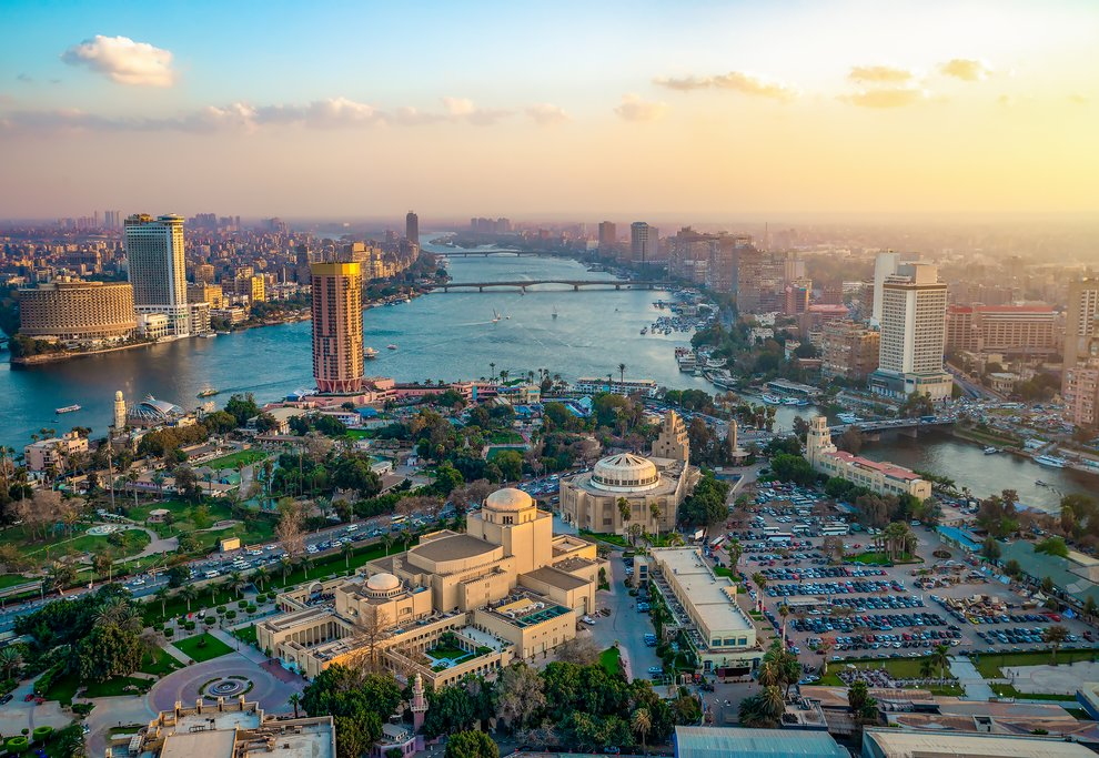 A view of Cairo's city and the Nile River