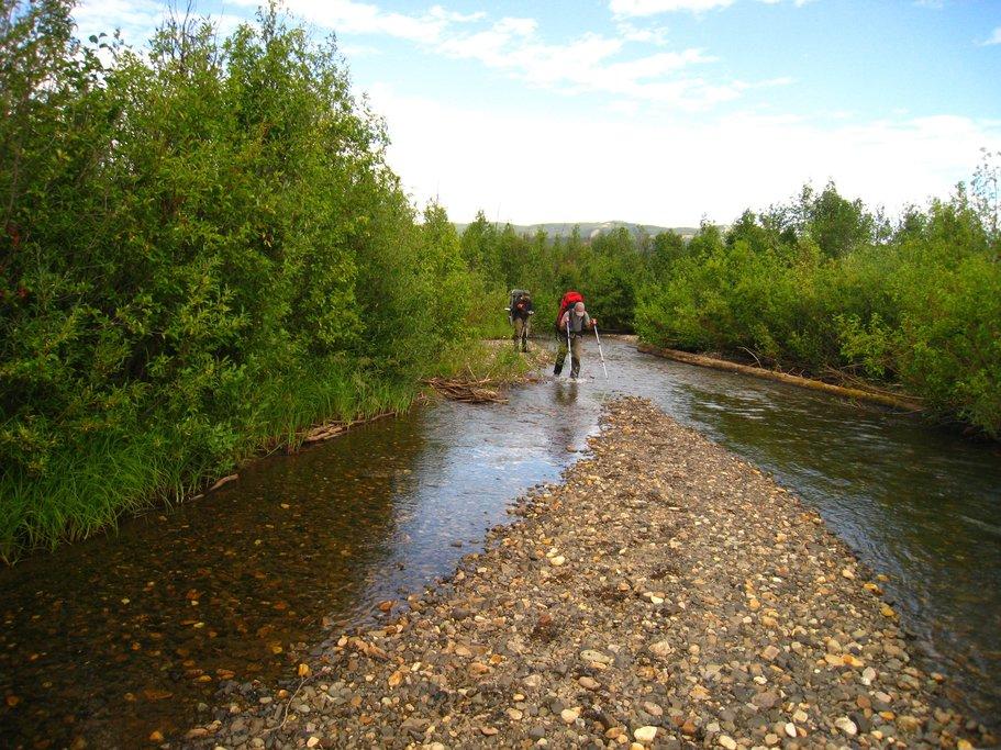 Following the creek to Mowdade Lake