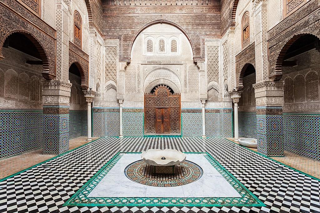 Inside the Al Attarine Madrasa