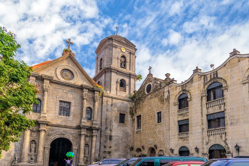Facade of San Agustin Manila Philippines