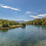 The crystalline waters of the Río Manso