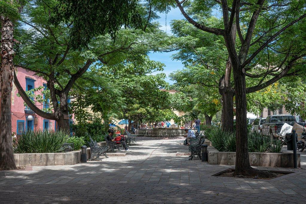 Parque Labastida in the historic center of Oaxaca, Mexico