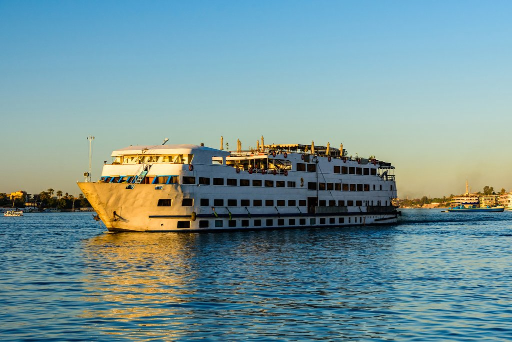 A cruise ship on The Nile near Luxor