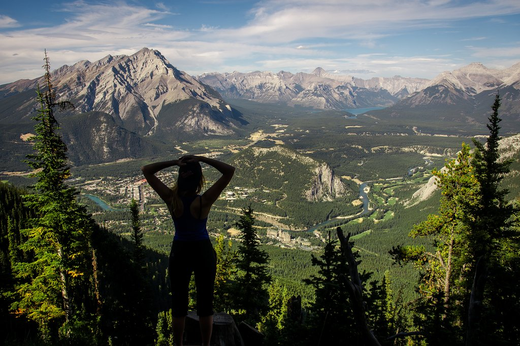 Hike to a local summit above Banff