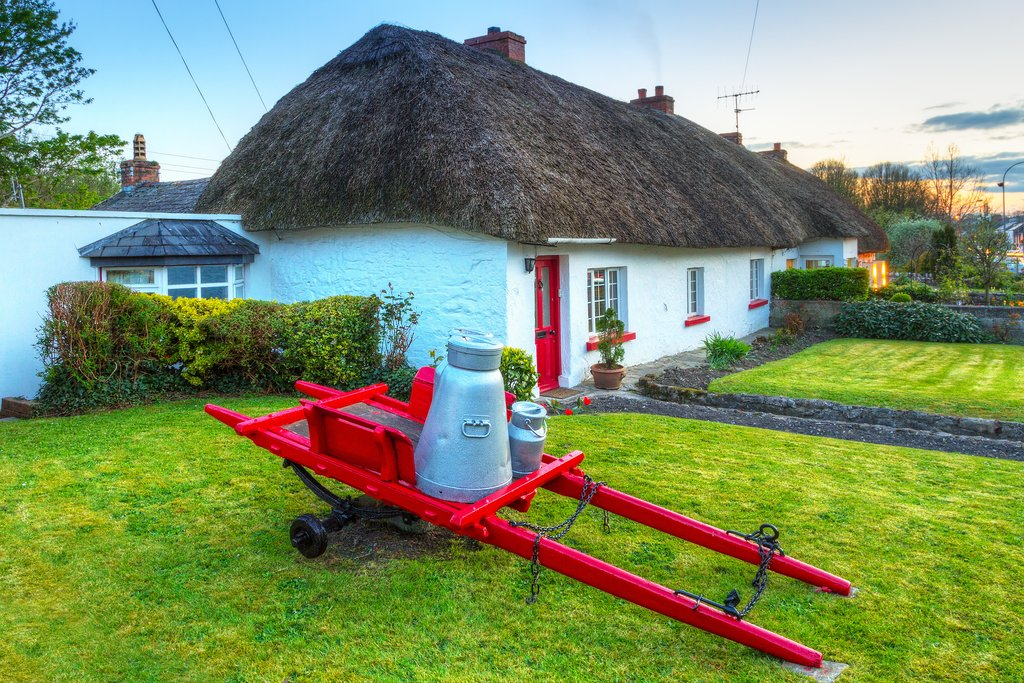 Traditional Thatched Roof Cottage in Adare