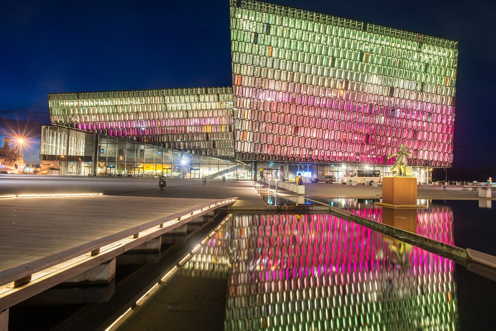 Harpa Concert Hall in Iceland's increasingly cosmopolitan capital