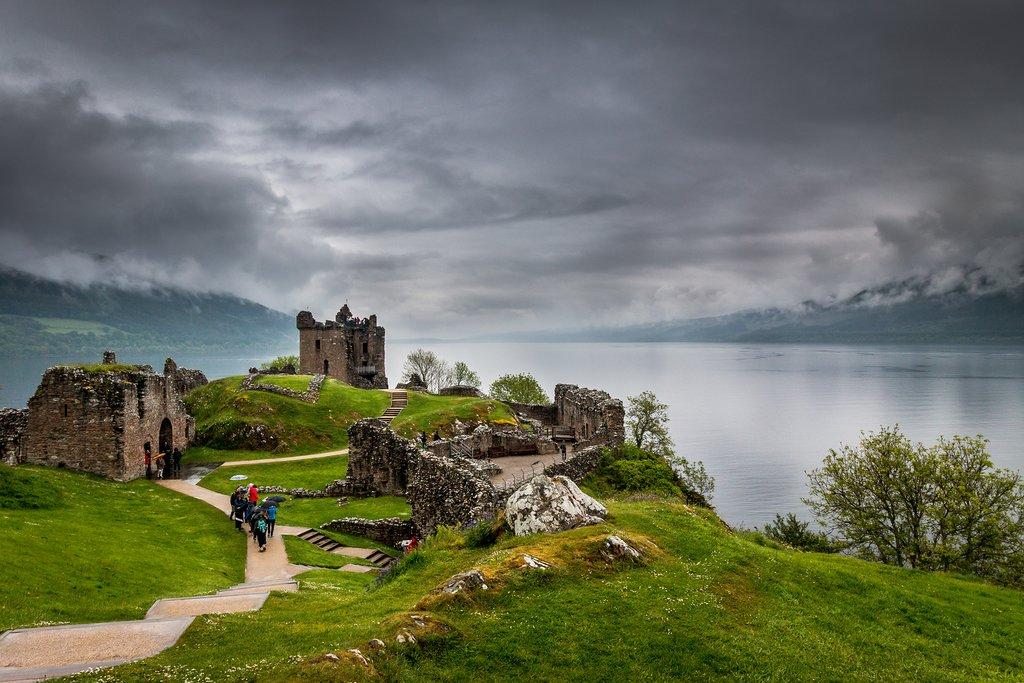 Castle Urquart overlooking Loch Ness.